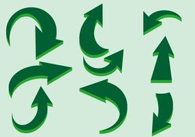 Grüne Flechas Vektor