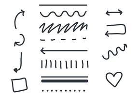 Linearer Pfeil und Schärpe Vektoren