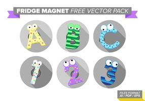 Kylskåp Magnet Gratis Vector Pack