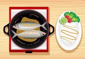 Fisk yngel måltid vektor