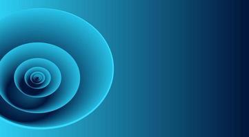 blå 3d cirkelformer på blå lutning vektor