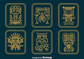 Inca reliker vektor uppsättning