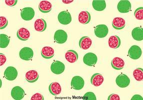 Guaven Früchte Muster vektor