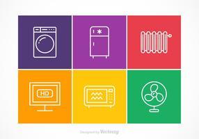 Kostenlose Vector Appliances Stroke Icons