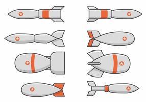 Världskrig 2 Bomb Set vektor