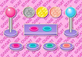 Arcade Button Girly Vektor Set