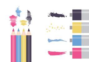 CMYK Färgfärger vektor