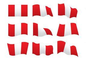 Peru Flagg Vektor Former