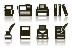 Kostenlos minimalistischen Schriftsteller Icon Set