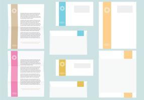 Färgglada brev- och kuvertmallar vektor