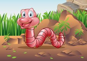 Earthworm Charakter Vektor