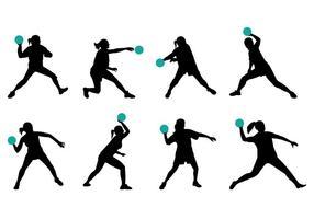 Silhouette des Dodgeball-Spielers vektor