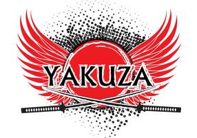 Yakuza logotyp bakgrund vektor