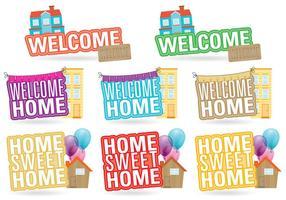 Willkommen Home Titles vektor