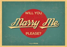 Vintage retro stil gifta mig med illustrationen