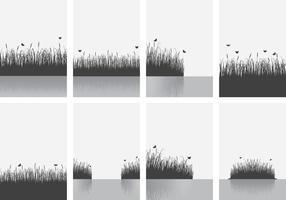 Cattails bakgrund vektor