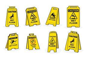 Free Wet Floor Zeichen Vektor