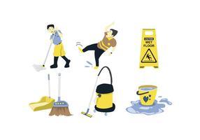 Reinigung Werkzeuge Vektor