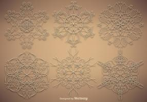 Vektor Set Of Ornamental Snowflakes
