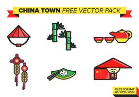 China town kostenlos vektor pack