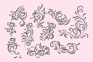 Freier Weinlese-Blumenentwurfs-Vektor vektor