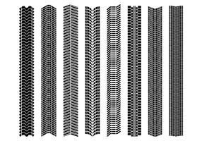 Verschiedene Reifenmarken Vektor
