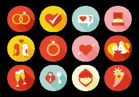 Elemente heiraten mich Icons