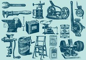 Vintage große Werkzeuge vektor