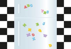 Kühlschrankmagnet Superheld-Vektor