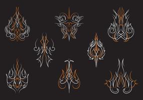 Hotrod Pinstripes Ornament Vektoren