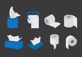 Vektor uppsättning av våtservetter papper