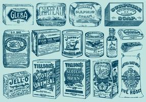Vintage-Pakete