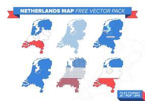 Nederländerna Karta Gratis Vector Pack