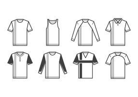 Gratis T-shirt mall vektor