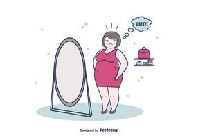 Viktminskning kvinna vektor