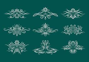 Nadelstreifen Scrollwork Vektor Icons