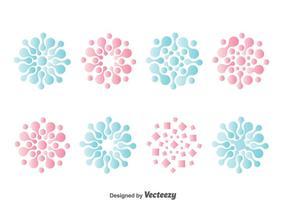Nanotechnologie Symbol Sammlung Vektor