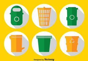 Müllbehälter Vektor Set