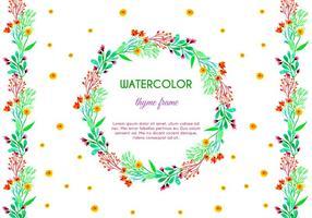 Gratis vektor vattenfärg timme ram och gräns