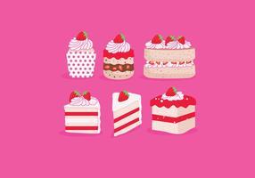 Erdbeer-Shortcake-Vektor