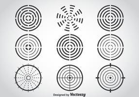 Laser-Tag-Ziel-Vektor-Set vektor