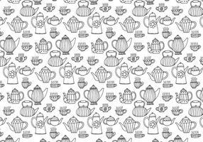 Tee Töpfe Nahtlose Muster