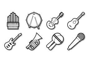 Freie Musik Instrument Icon Vektor