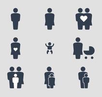 Glückliche Familie Icons