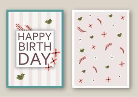 Gratis Grattis på födelsedagen Kortvektor vektor