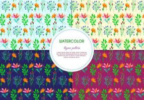 Multi Color Herb Pattern Vektoren