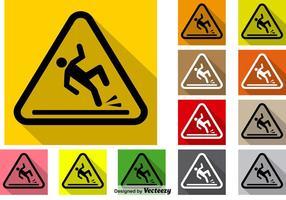 Vektor Set Of Wet Floor Icon