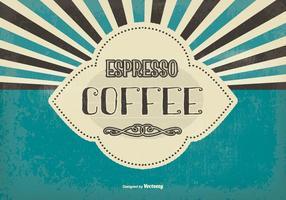 Vintage Espresso Kaffee Hintergrund vektor