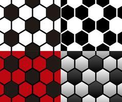Vektor-Set Von Fußball Nahtlose Muster vektor
