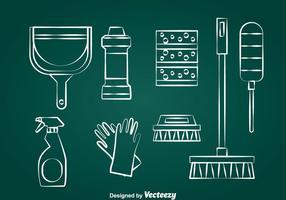 Saubere Werkzeuge Vektor